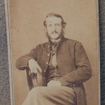 Civil War Marine cdv photograph