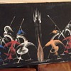 African Dance Painting signed