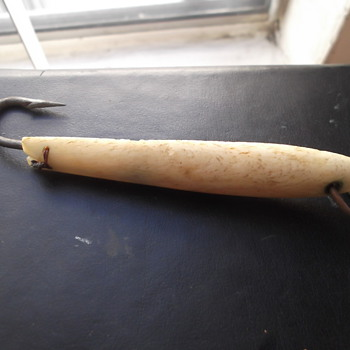 Vintage Whale Bone/Ivory Fishing Lure Made in Japan