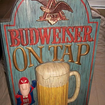 Clint&#039;s Vintage Bud Man Budweiser Sign