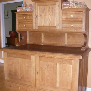 French Handmade Restaurant Linen Press/Hutch - Furniture