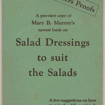 1925 - Mary Murray&#039;s Salad Dressings - Wesson Oil - Books