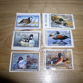 Migratory waterfowl stamps