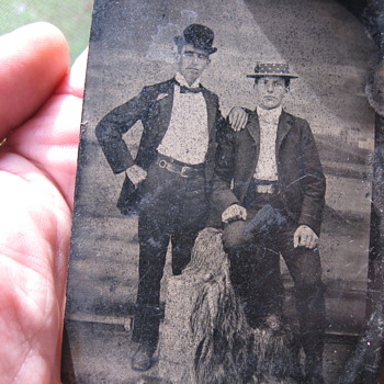 Jesse James And Billy The Kid Tin Picture  - Photographs
