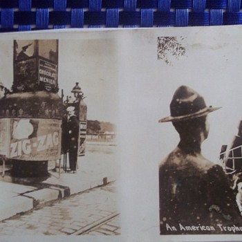 ODD WW1 Postcard with 2 different images