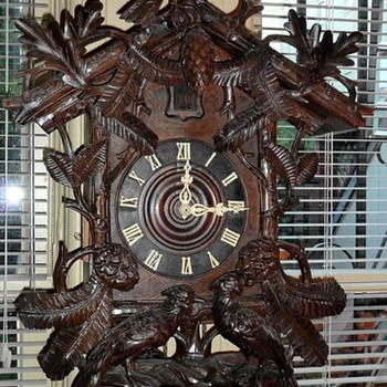 Large Black Forest Cuckoo Clock - Good Carving - Clocks