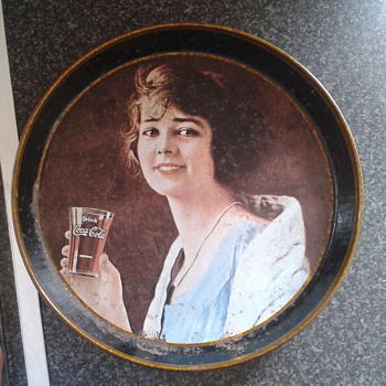 coca cola tray i picked up at car boot sale