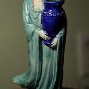Early 20th century Shiwan Ware Guanyin with Urn - Asian