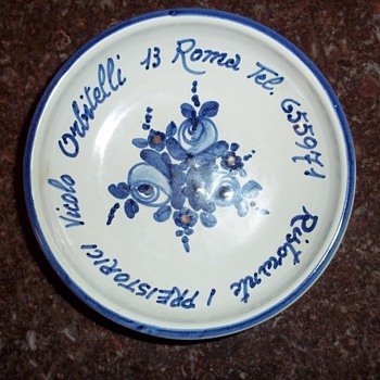 Small dish from restaurant in Rome, Italy - Art Pottery