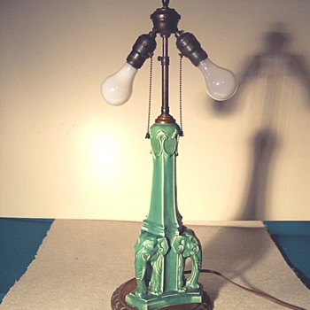 Rookwood Elephant Lamp