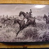 Equestrian Hunting Themed Antique Enamel, Silver &amp; Gold Cigarette Case
