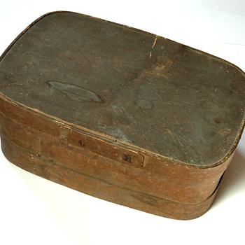 ancienne boîte en copeaux - boîte àouvrage fin XIXe