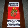 A Original 1962 Pendleton Round Up Advertisement Poster