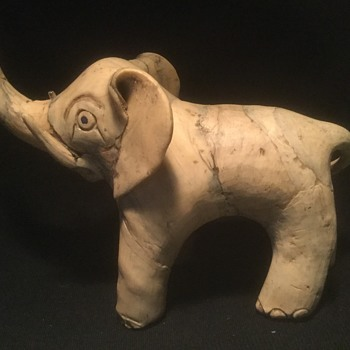 I love elephants, and this strange piece came my way