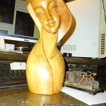 Wood sculpture modern  european