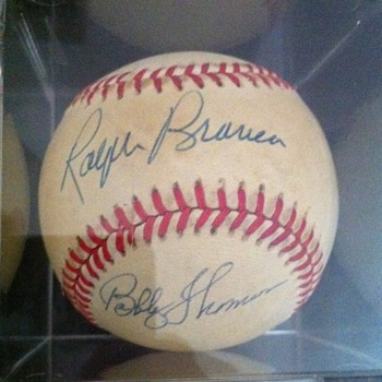 The Shot Heard &#039;Round the World Autographed Baseball - Baseball