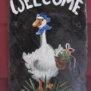 Welcome to C W............smiling - Folk Art
