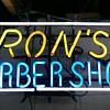 Vintage barber neon sign