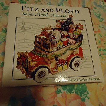 FITZ AND FLOYD SANTA MOBILE - Christmas