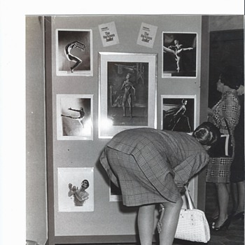 Black & White Photo - 1967 of a Lady Bending Over  8 x 10 Indianapolis Newspaper Photographer