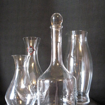 RIEDEL DECANTERS AND WATER PITCHER - AUSTRIA