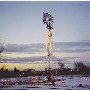 My windmill,and the nativity scene