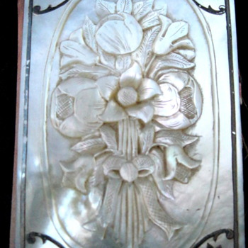 Ivory Carved French Diary or maybe mother of pearl?