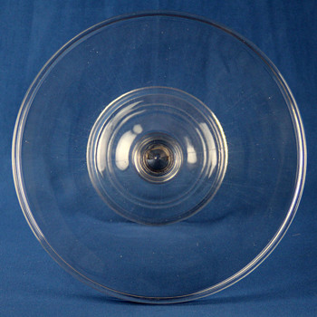 Central Glass Company #544 Plain Cake Stand c1880