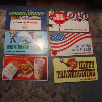 "13 VINTAGE MCDONALD ADVERTISEMENT SIGN 12' x 6 1/2"" - Advertising"