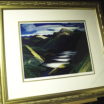 "1 of 2 Group of Seven, Plate Proof""Franklin Carmichael--4 May 1890/24 October 1945 ""XX Century - Visual Art"