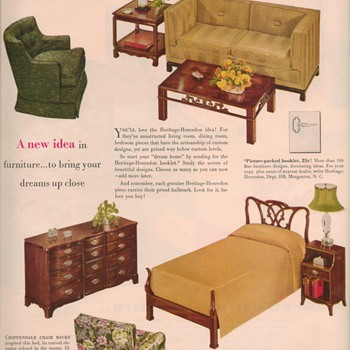 1950 Heritage Furniture Advertisements - Advertising