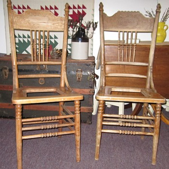 Okay, not Victorian; so it's Bannister Chair; I'm seeing Early American and it looks like these.