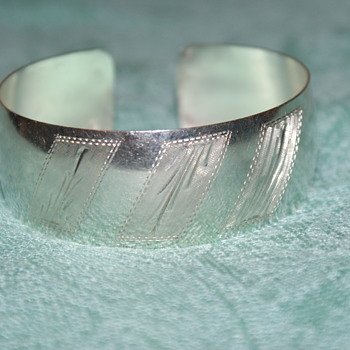 Sterling Silver Italian Cuff Bangle