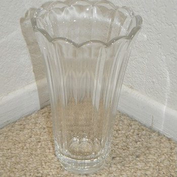 Val St. Lambert Crystal Vase Tall 11.5 Inches Signed?