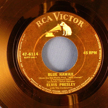 Elvis Presley - Blue Hawaii 47-6114  Philippines - Records