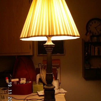 Vintage Hollywood Regency Lamp w/ Italian Marble Base ~Made In Italy - Lamps