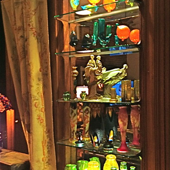 Mixed Collection of Art Glass and Art Pottery - Art Glass