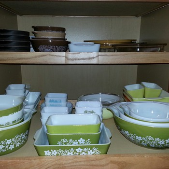 My Spring Blossom aka Crazy Daisy Pyrex Collection...  They're So Cute & Cheerful  :-)