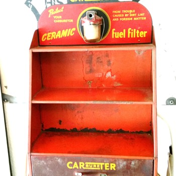 Old fuel filter display - Petroliana