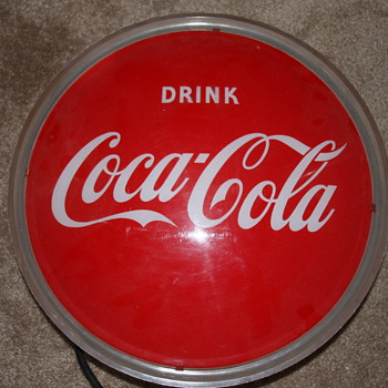 Older Light Up Coke Sign - Coca-Cola