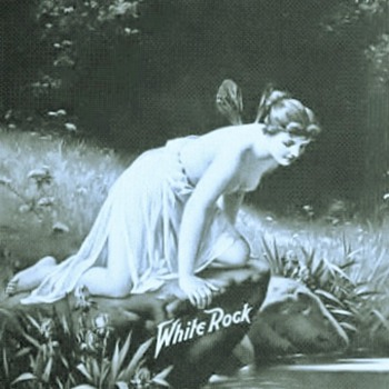 White Rock Bottling Co . Image of  a Greek Godess  Psyche as its logo  - Advertising
