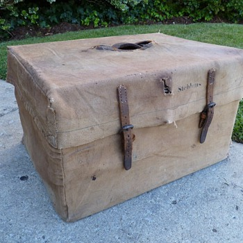 Unusal Trunk With Canvas Cover - Furniture