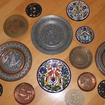 My Collection of Wall Plates - Asian