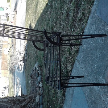 folding iron chair - Furniture