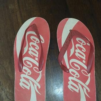 Coca Cola flip flops from the 80's - Coca-Cola