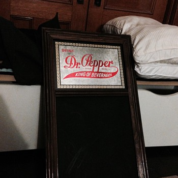 Dr. Pepper Mirror Restaurant board - Advertising