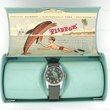 c.1965 Flipper Watch by Bradley in the Box - Wristwatches