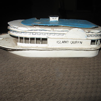island queen toy wood boat