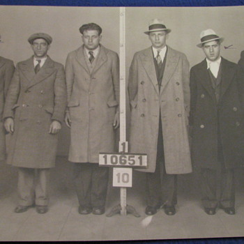 1930 Vintage Original Police Prisoner Photo's