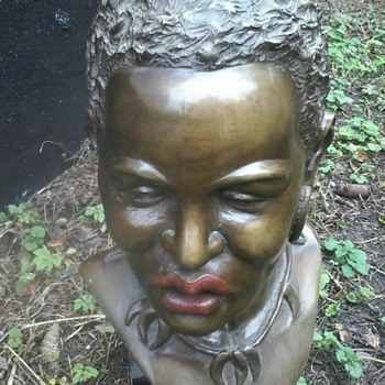 a bronze bust - Visual Art